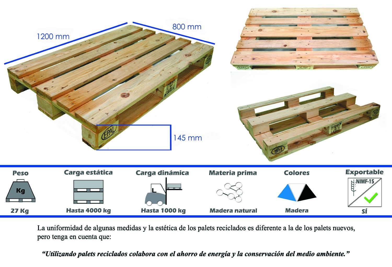 Palets de madera nimf15 y palets de pl stico el - Cuanto cuesta un palet de madera ...